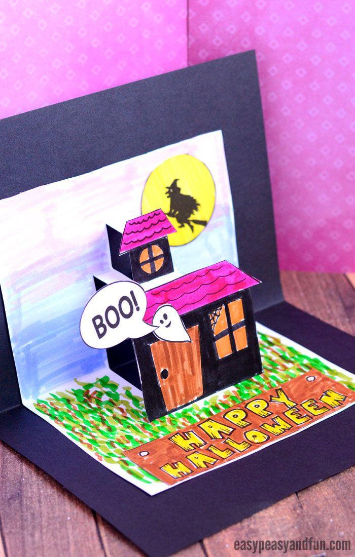 Halloween Pop Up Cards Templates.Halloween Pop Up Card Template Arts Crafts Pop Up Card