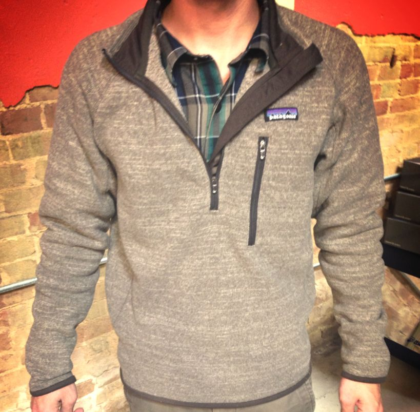 f0cf6d1c06bc3 One of our Jonesboro downtown employees paired a Patagonia Pima Cotton long  sleeve with a Patagonia Better Sweater 1 4 zip- great look for in-between  ...