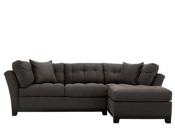 cindy crawford metropolis 2pc microfiber sectional sofa sectional sofas raymour and