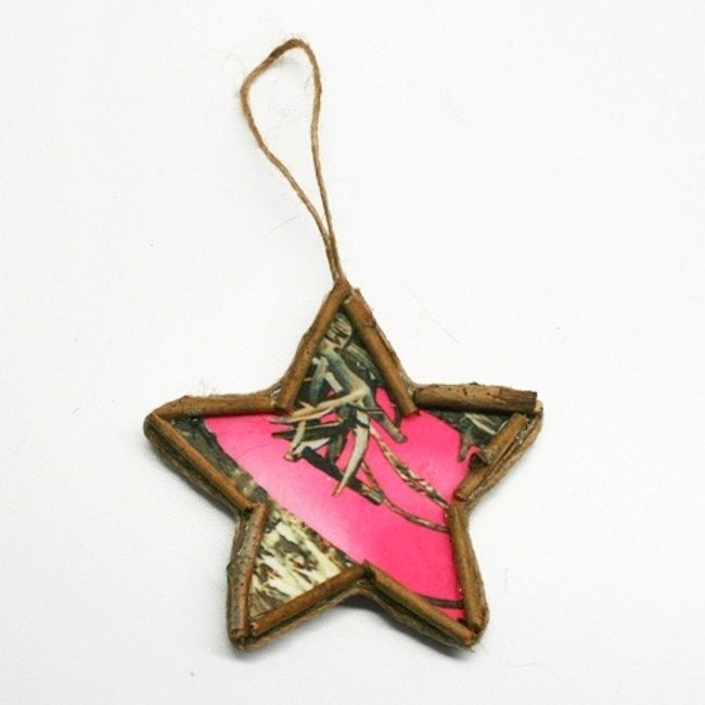 Pink Star Camo Ornaments- country Christmas decorations ...