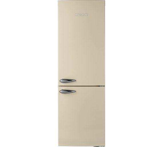 Buy Bush Classic BFFF60 Retro Fridge Freezer- Cream at Argos.co.uk ...