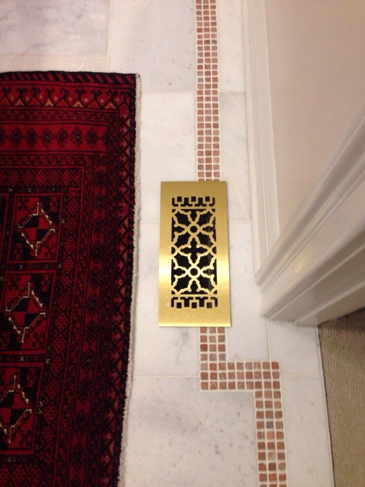 In the mood for some Brass? Brass floor vent covers in many sizes.