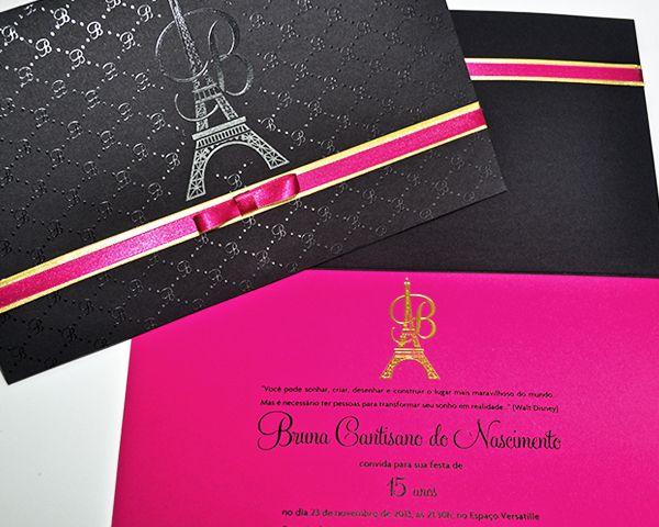 5a4541e2f 15 convites com tema Paris para a festa de 15 anos - Constance Zahn ...