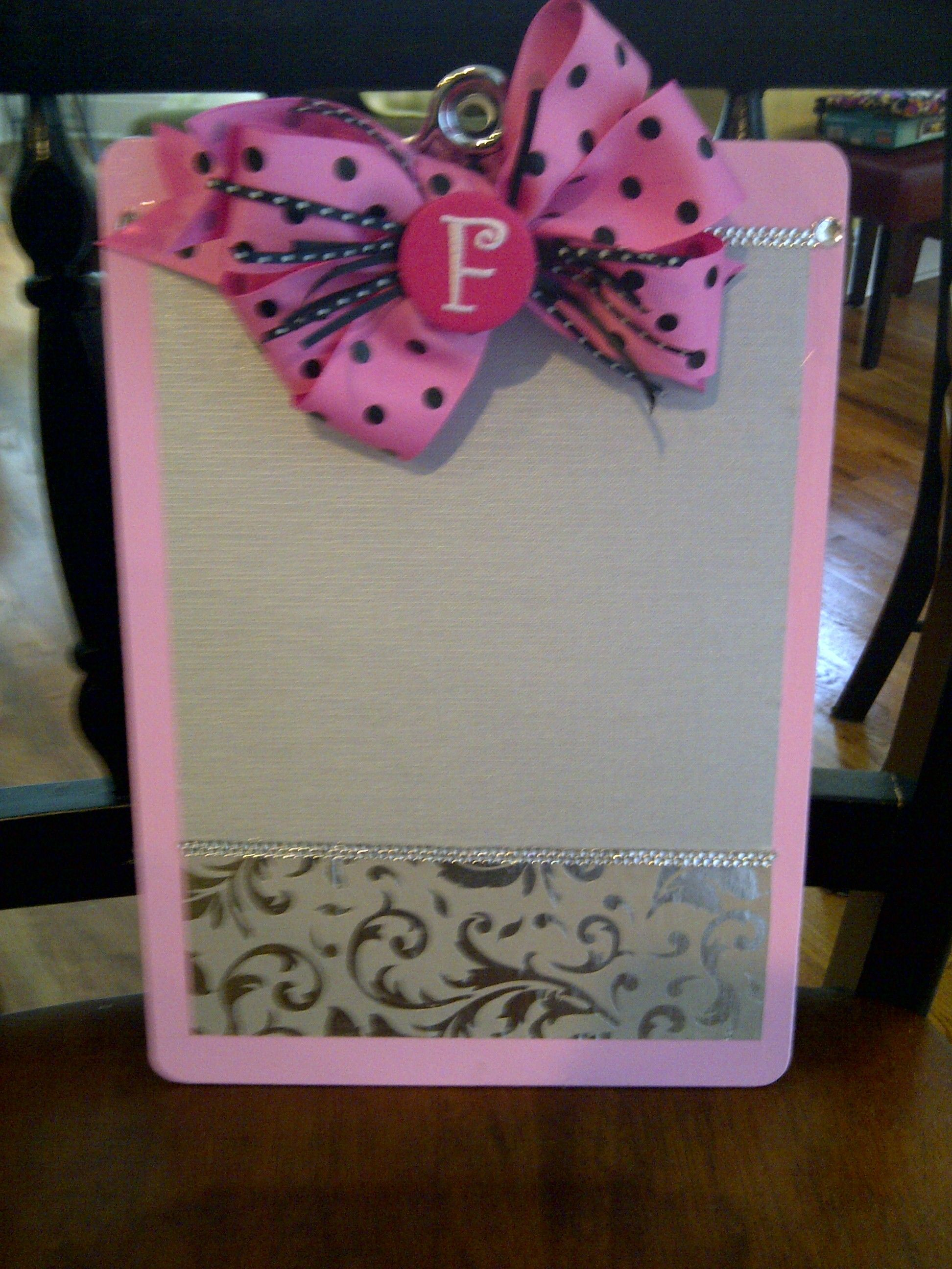 """Front of """"Glamboard."""" Great teacher gift!"""