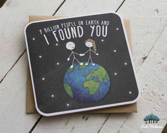 Cute love card husband card wife card wife anniversary 7 billion people on earth and i found you anniversary valentines birthday m4hsunfo Choice Image