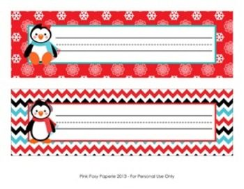 christmas winter penguin desk name plates 5 senses christmas rh pinterest com