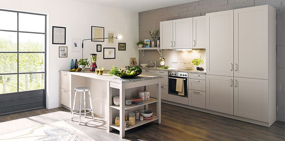 Schüller möbelwerk kg casa l213 sandgrau seidenglanz · küchen designentgelthaushaltsgeräte