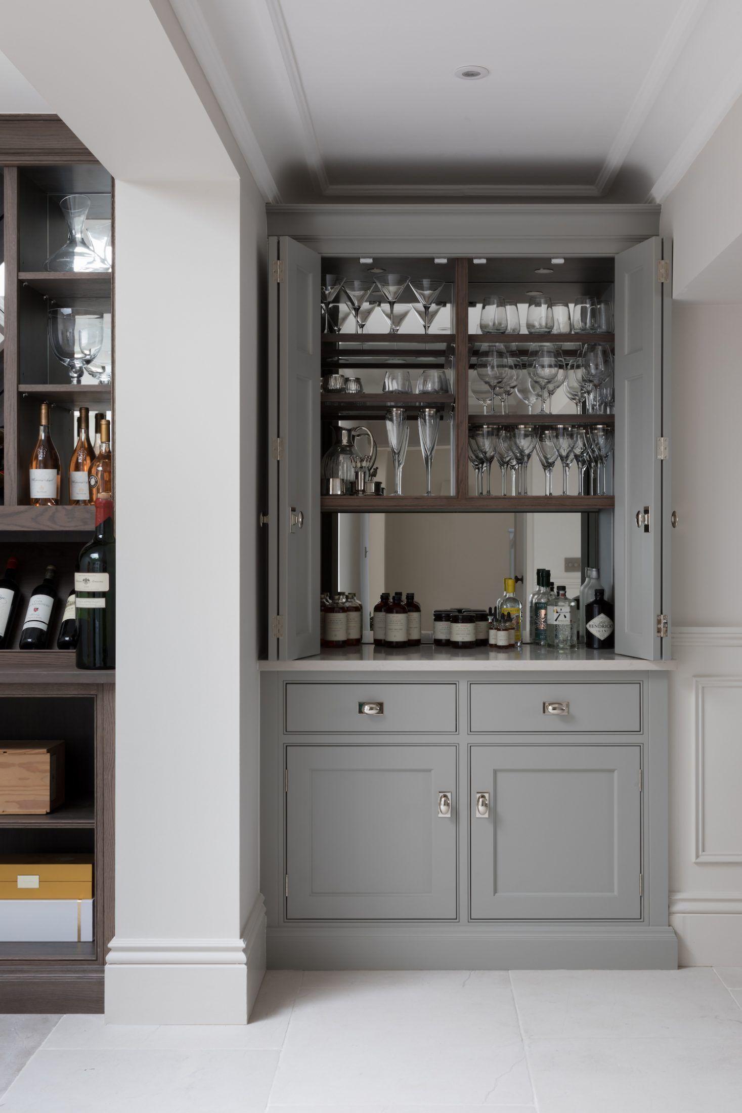 Contemporary Drinks Cabinet Humphrey Munson Open Plan