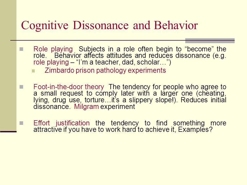 Image Result For Justification Of Effort Foot In The Door Cognitive Dissonance Psychology Pathology