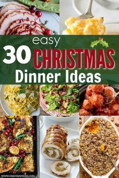 Christmas Dinner Ideas - 30 Christmas Menu Ideas images