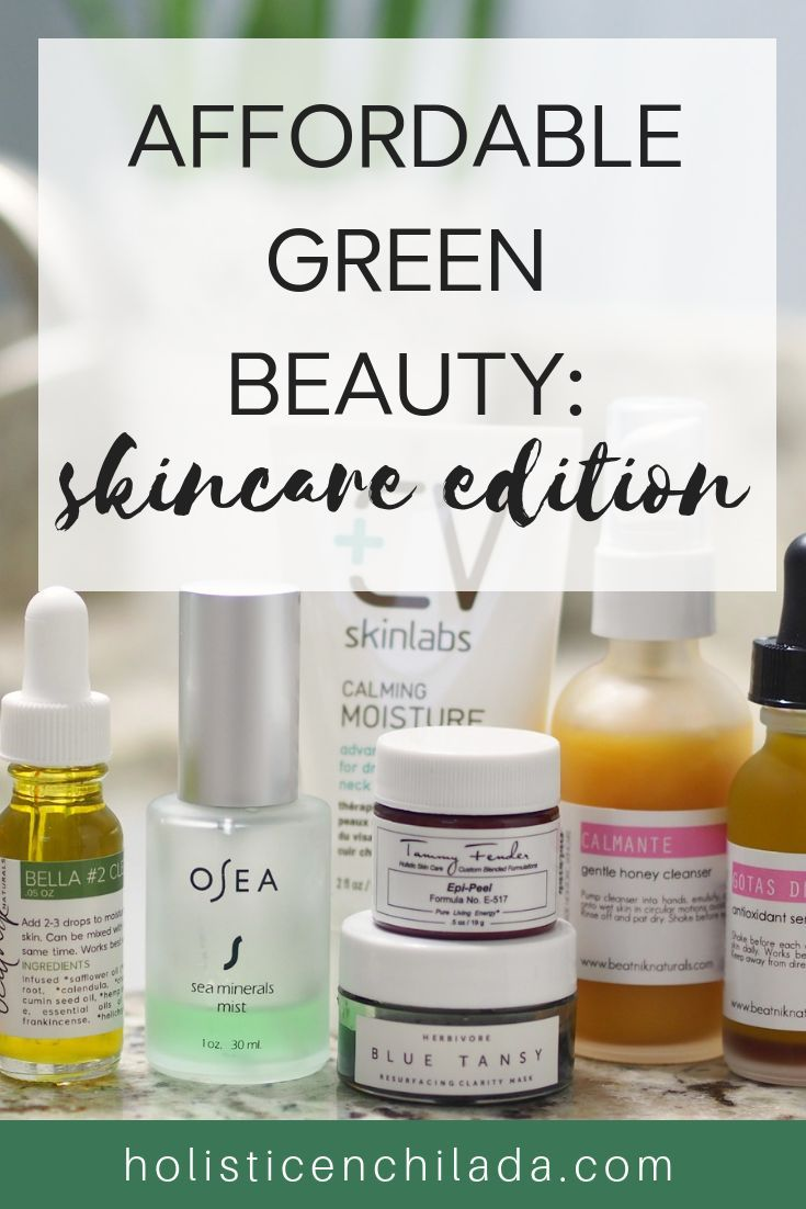 Affordable organic and natural skincare roundup. Affordable green beauty brands and stores. Organic skincare on a budget. #organicmakeup