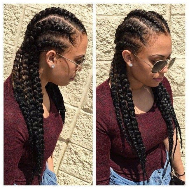 87 Cornrow Hairstyles for Black Women Ideas in 2019, Next time you're stuck ...  - Hairstyles -  #braided hairstyles short #braided hairstyles #braidedhairstylesforblackwomen