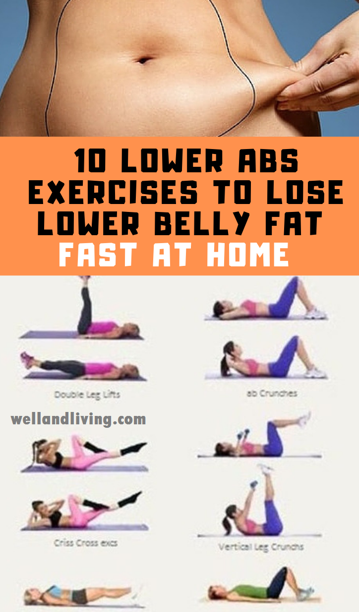 10 Lower Abs Exercises to Lose Lower Belly Fat Fast At Home #workout