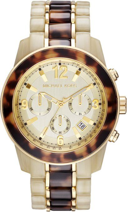 Michael Kors Ivory And Tortoise Playa Chronograph Quartz Women S Watch Mk5764 Armbanduhr Schone Uhren Damenuhren