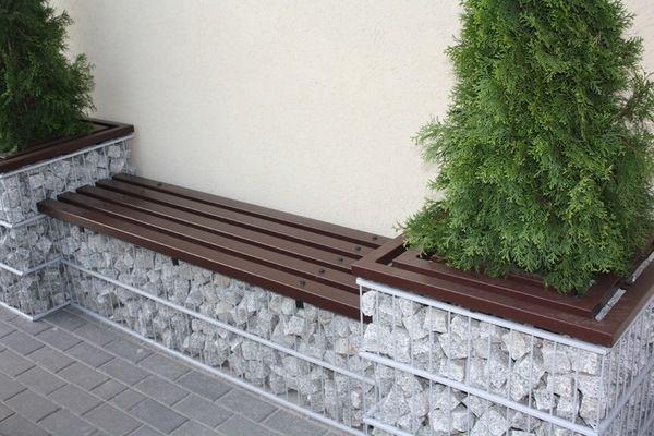 Photo of gabion ideen gartenmöbel DIY gartenbank ideen terrassendekoration #gabion #gard…