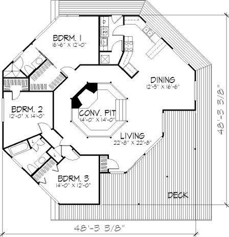 3 Bedroom 2 Bath Bungalow House Plan Alp 06c0 Round House Plans House Floor Plans Vacation House Plans