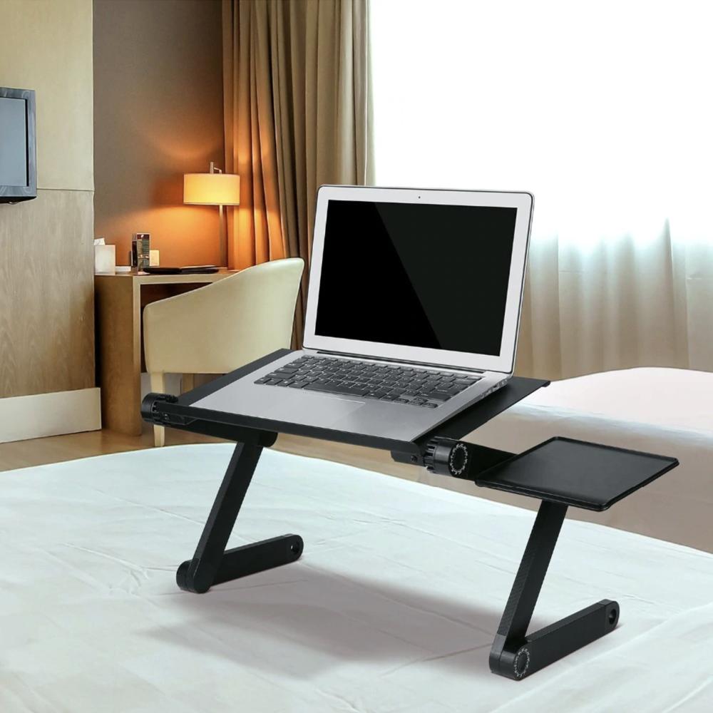 Adjustable Ergonomic Portable Aluminum Laptop Desk Mouse Pad