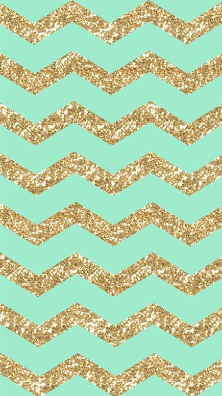 Freebie Gold Glitter Mint Chevron Iphone 6 Wallpaper