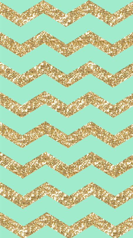 Freebie Gold Glitter Mint Chevron Iphone 6 Wallpaper Iphone