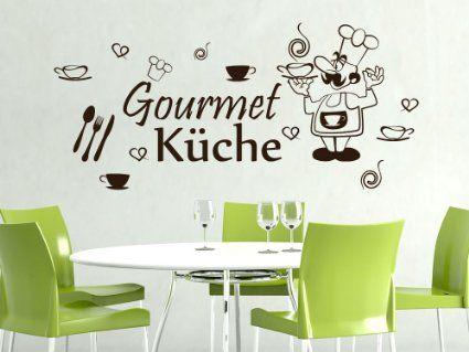 Wandtattoo Aufkleber Wanddeko Set für Küche Gourmet Küche Besteck