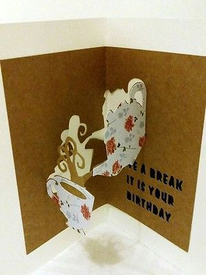 Take A Break Pop Out Birthday Card 3d Card Planet Pinterest