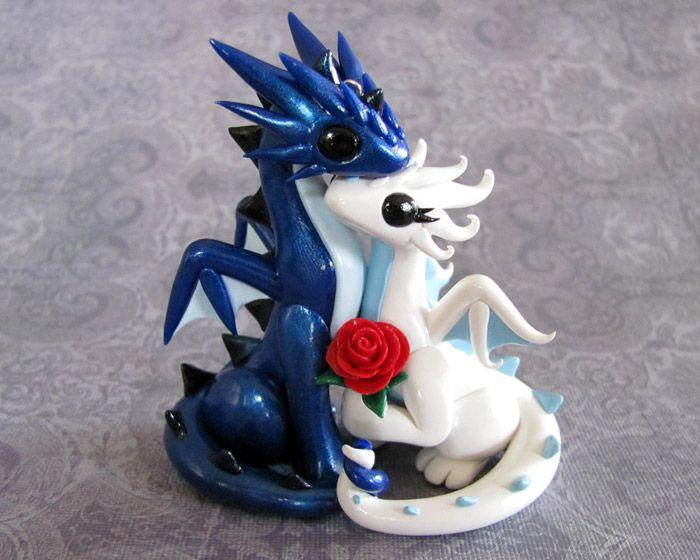 Dragon Couple Ornament by DragonsAndBeasties.deviantart.com on @deviantART