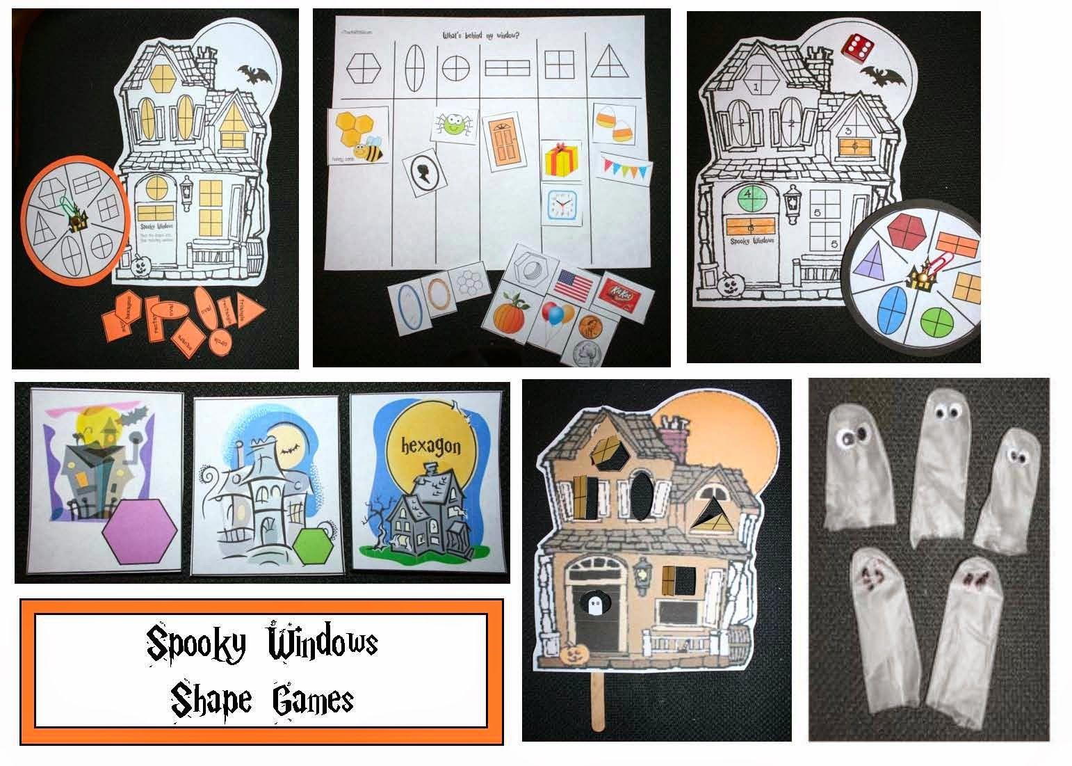 Spooky House Shape Game