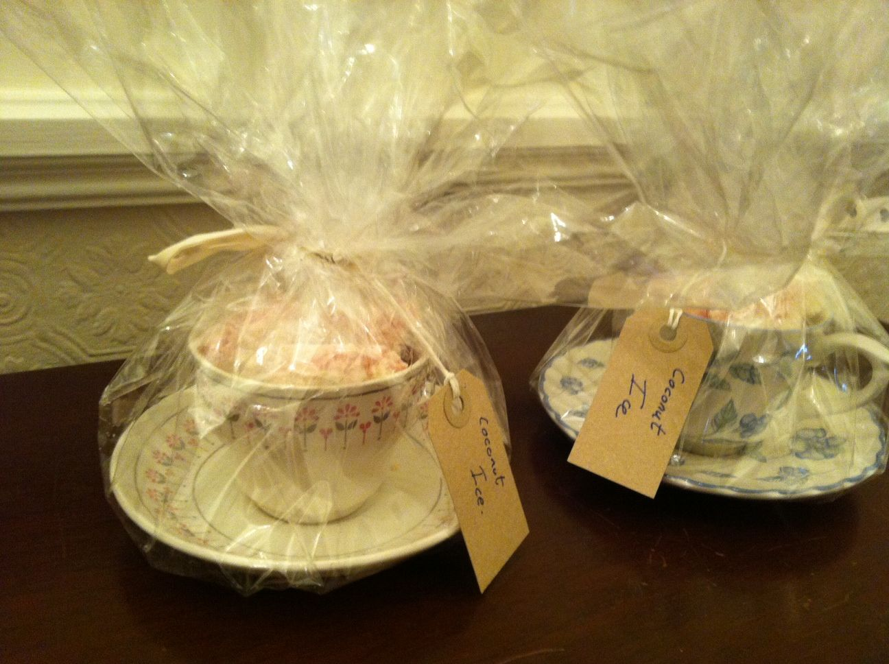 Instead of wrapping a basket wrap vintage tea cups filled with instead of wrapping a basket wrap vintage tea cups filled with treats they make perfect gifts negle Images