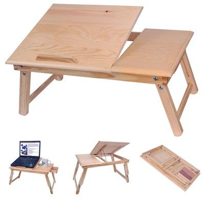 Wooden laptop stand for bed images for Table stand i 52 compose