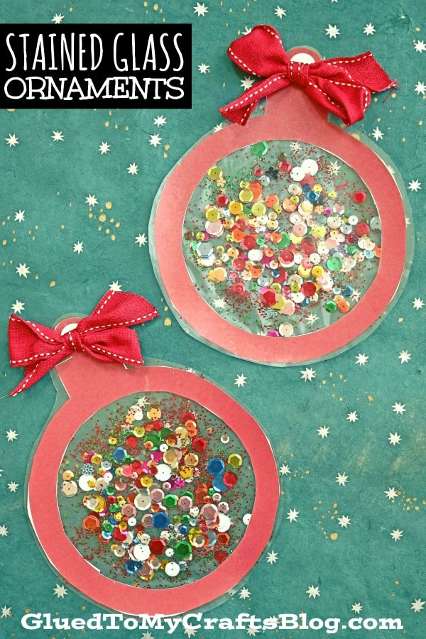 Stained Glass Ornaments - Christmas Kid Craft w/fr