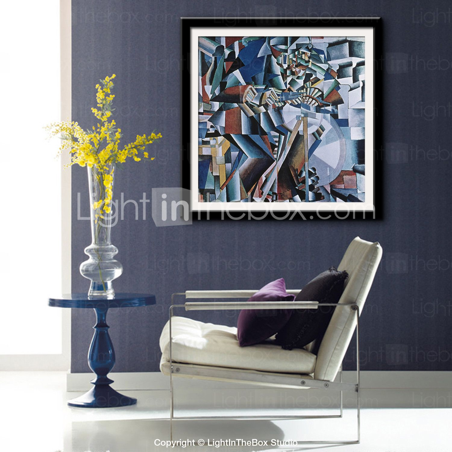 living room art prints%0A EHOME   Framed Canvas Art  Mechanical Abstract Pattern Framed Canvas Print  One Pcs