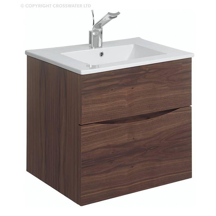 bauhaus glide ii 50 american walnut vanity unit ceramic basin rh pinterest de
