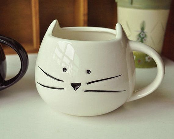 **This listing is for WHITE cat mug** **Please note: our turnaround time is 1 – 2 business days** FEATURES: * Mug capacity: 12 oz (360ml) * Glossy