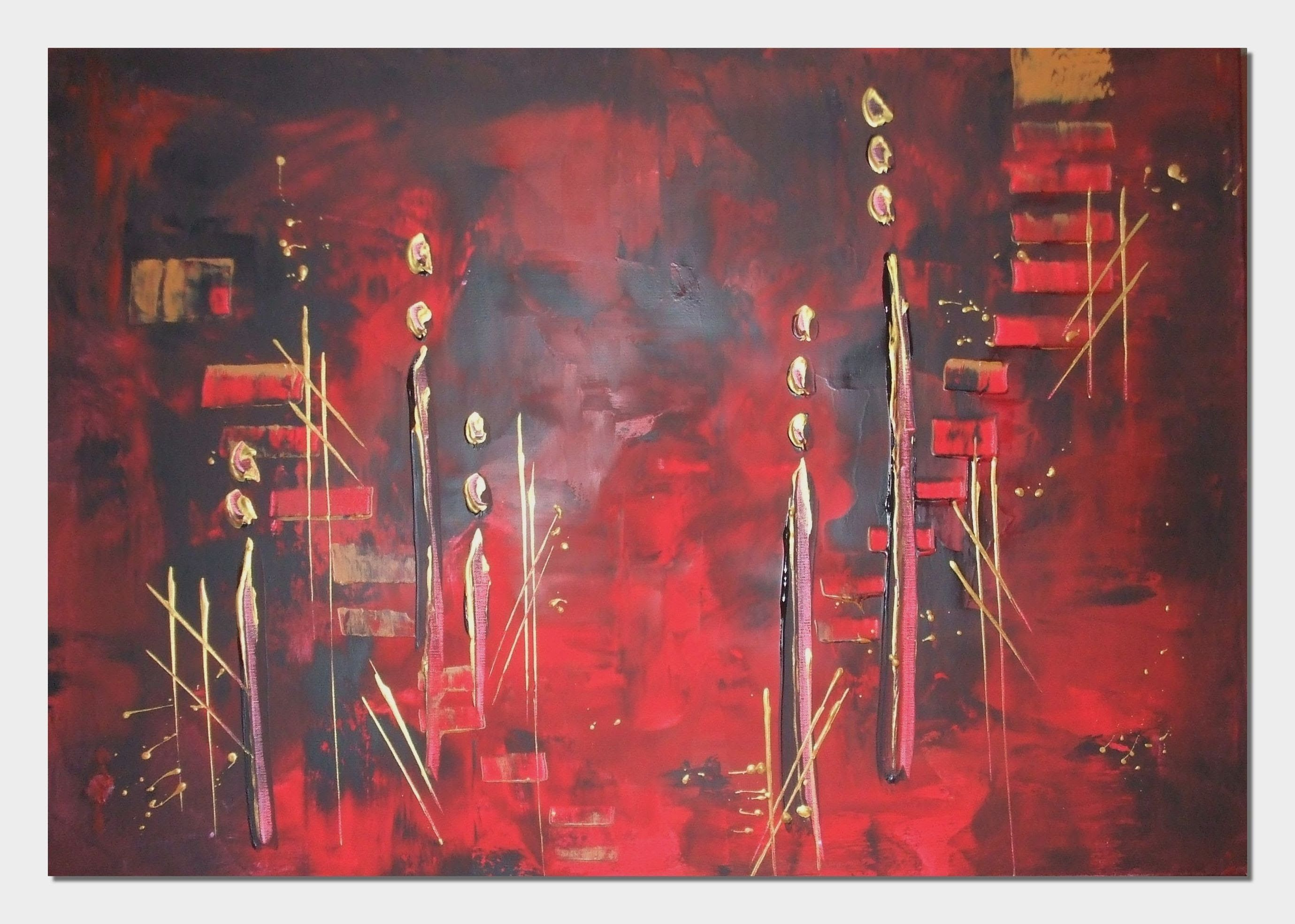 acrylmalerei spachteln acrylic painting spackling | peintures