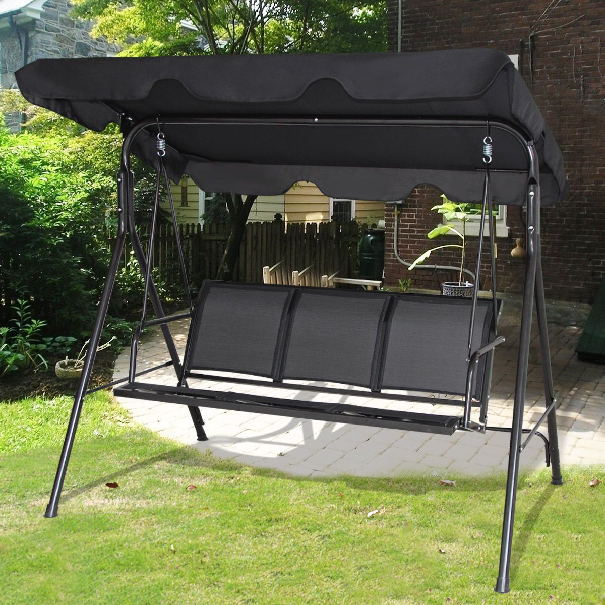 Garden Swings With Canopy Canada Porch Swing With Stand Porch Swing