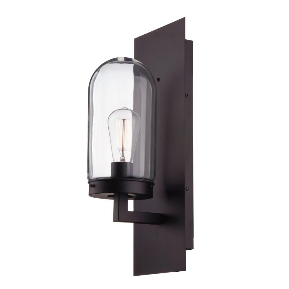 Globe Electric Slater 1 Light Bronze Outdoor Wall Lantern Sconce 44267 The Home Depot In 2020 Outdoor Wall Lantern Outdoor Wall Sconce Wall Lantern