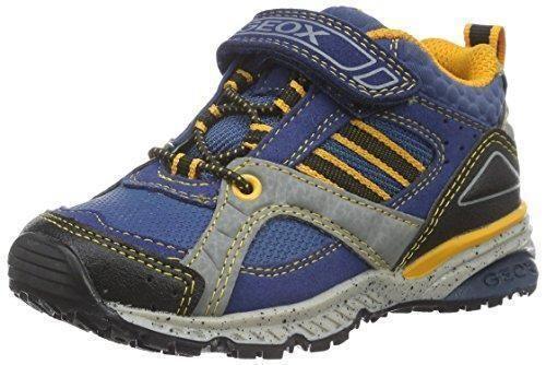 Geox JR Arno A - Zapatillas con Velcro para Niños, Color Azul (NAVY/REDC0735), Talla 24 EU