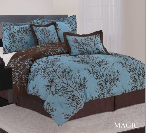So Pretty Teal And Brown Bedding Pinterest Dust