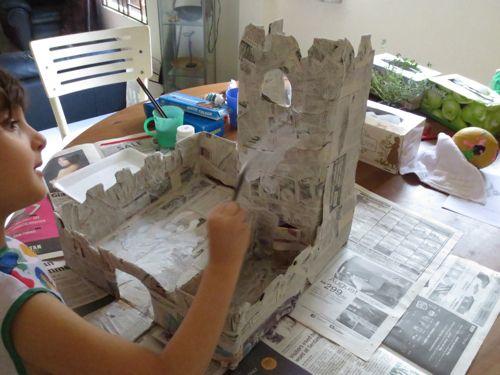 Cardboard Paper Mache Castle Paper Mache Cardboard Paper Paper