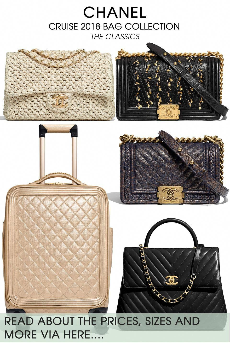 18e771f01dad Chanel Cruise 2018 Boy & Classic Bag Collection - And of course, there are  new styles of the Boy And Classic Bags. Oh yes, the Coco Handle Bag has  returned ...
