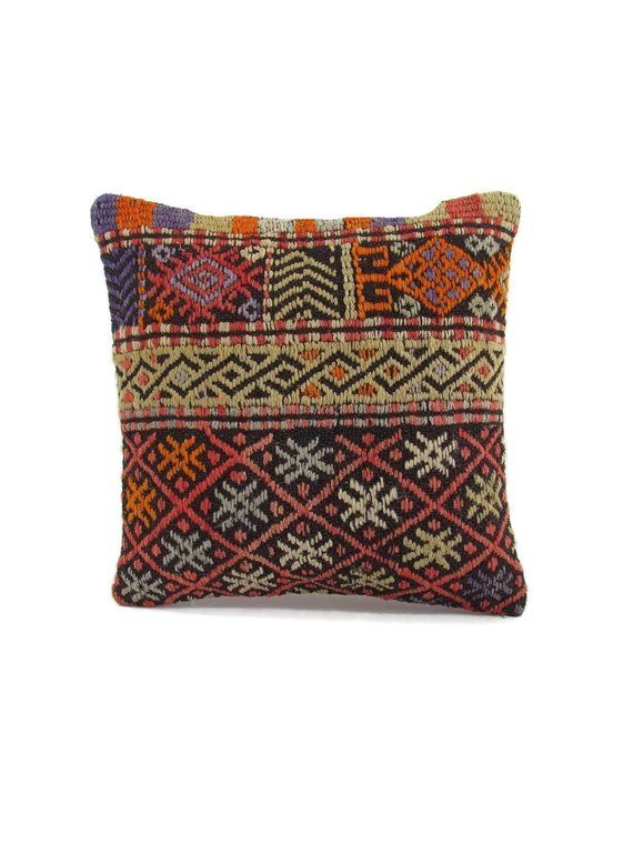 Kilim Pillow Decorative Pillow 16x16 Pillow Cover Pillow Sham Housewarming  Gift For Her Home Decor T 09a4991dba