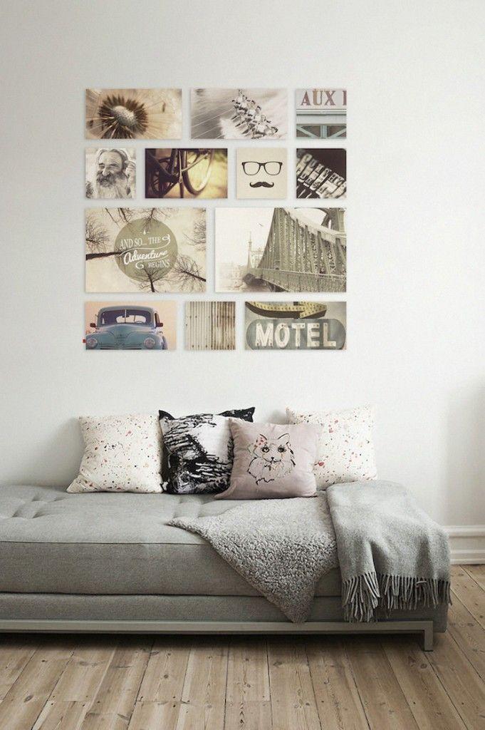 Creatieve wanddecoratie aan de muur fotowand muur for Leuke ideeen voor in huis