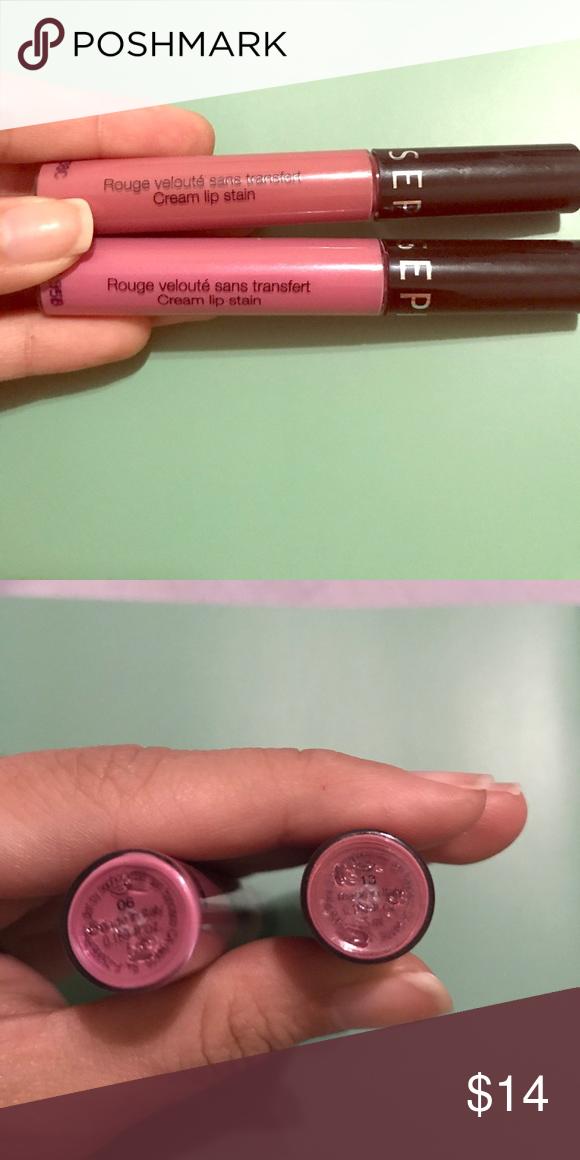 Cream lip stain Sephora cream lip stain. I used for swatch