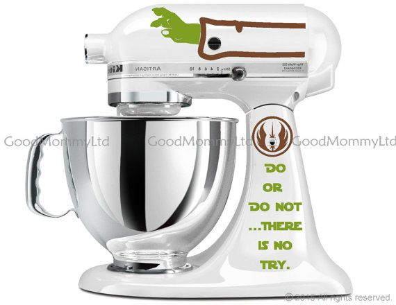 Master YODA Decal Kit for your KitchenAid Stand Mixer - Star Wars ...