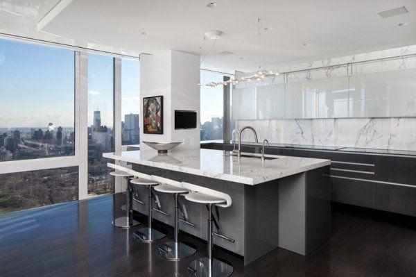 16 Imposant Penthouse Kitchen Design That Certainly Will Steal The Show Kitchen Design Kitchen Plans Apartment Kitchen