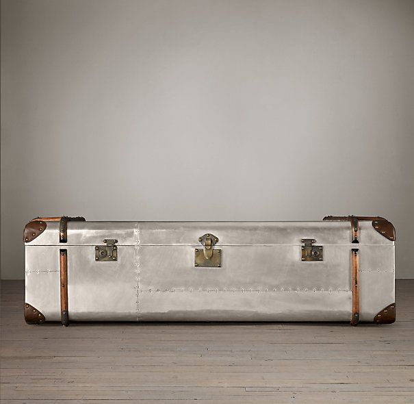 Richards Metal Trunk Coffee Table This will go nicely in my home