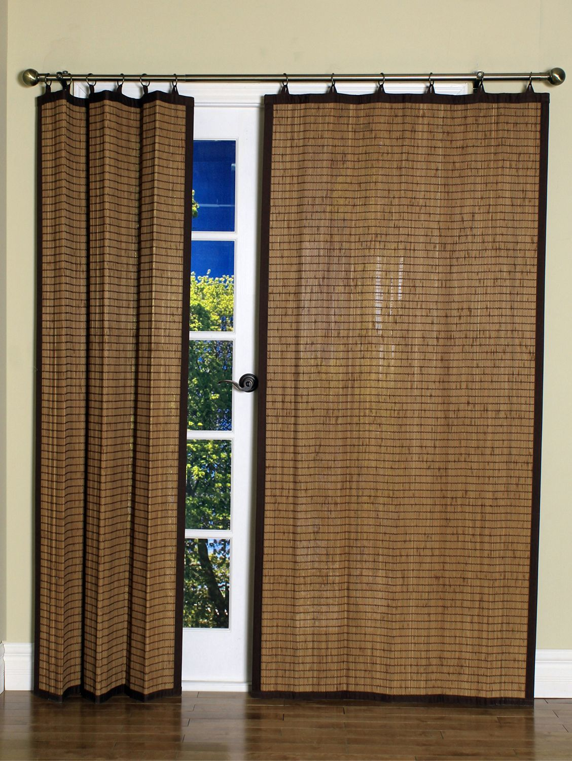 Woven Bamboo Panel With Rings Bamboo Curtains Bamboo Panels