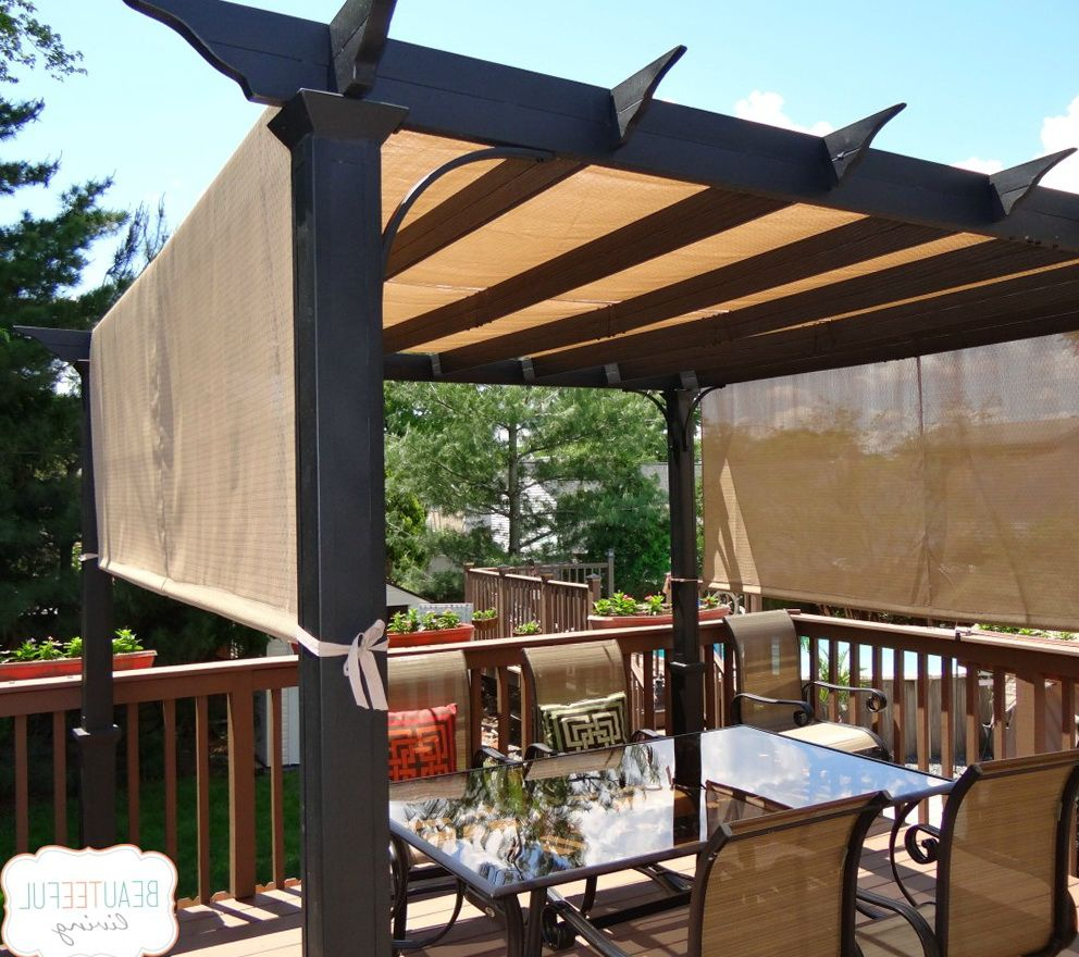 aluminum pergola kits costco pergolas pinterest. Black Bedroom Furniture Sets. Home Design Ideas