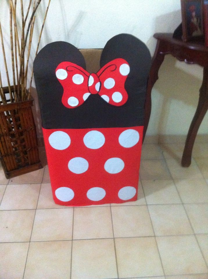 Caja De Regalo Minnie Mouse Festa Minnie Vermelha Decoracao