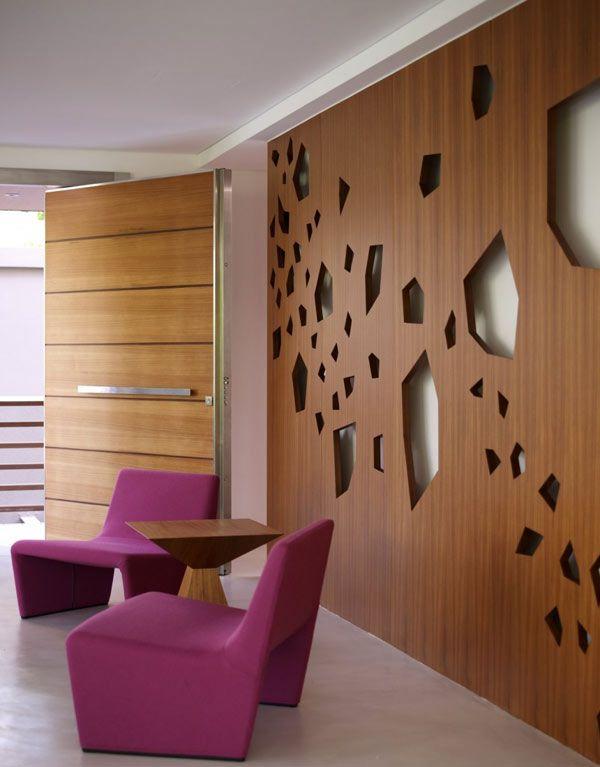 Contemporary open plan family residence in Kifisia samuel - muros divisorios de madera